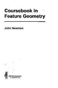 Coursebook in Feature Geometry