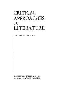 Critical Approaches to Literature