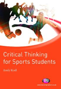 Critical Thinking for Sports Students (Active Learning in Sport)