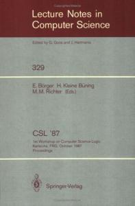 CSL '87 Computer Science Logic 1 conf