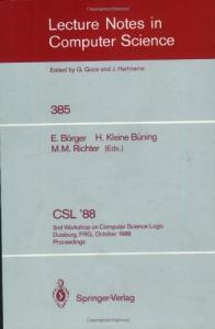 CSL '88 Computer Science Logic 2 conf