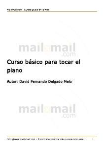 Curso Basico Para Tocar El Piano Mailxmail