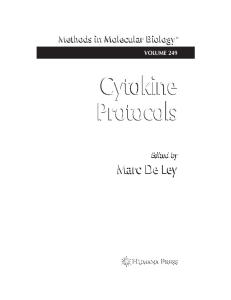 Cytokine Protocols