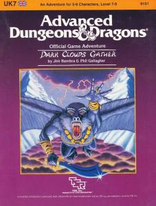 Dark Clouds Gather (Advanced Dungeons & Dragons Module UK7)