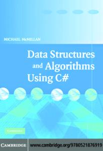 Data Structures and Algorithms Using C#