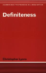 Definiteness (Cambridge Textbooks in Linguistics)