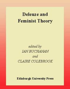 Deleuze and feminist theory