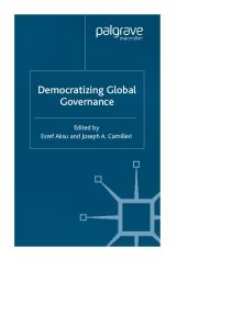 Democratizing Global Governance