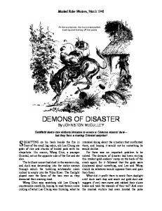 Demons of Disaster