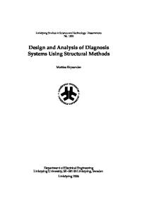 Design and analysis of diagnosis systems using structural methods