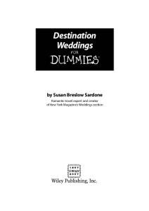 Destination Weddings For Dummies (For Dummies (Travel))