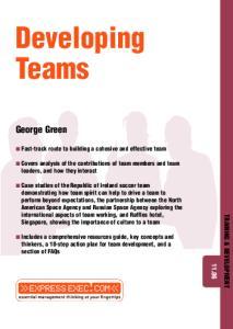 Developing Teams (Training & Development)