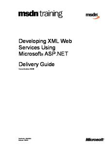 Developing XML Web Services with ASP NET 2002