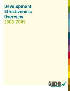 Development Effectiveness Overview 2008-2009