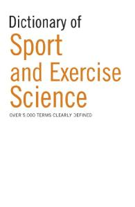 Dictionary of Sports Science
