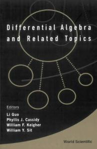 Differential Algebra And Related Topics