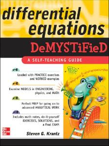 Differential Equations, Differential Equations Demystified