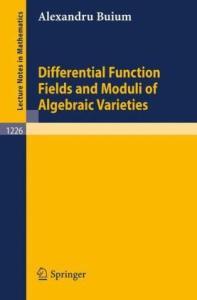 Differential function fields and moduli of algebraic varieties