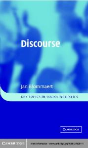 Discourse: A Critical Introduction