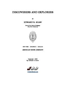 Discoverers And Explorers (1900)