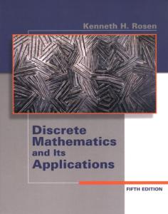 Discrete Mathematics and its Applications, Fifth Edition