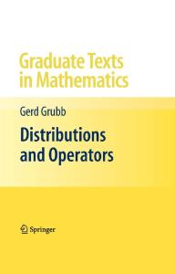 Distributions and Operators