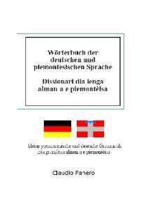 Dizionario della lingua tedesca e piemontese
