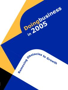 Doing business in 2005