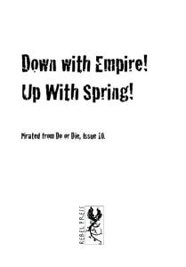 Down with Empire! Up with Spring!