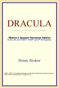 DRACULA (Webster's Spanish Thesaurus Edition)