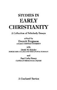 Early Christianity and Judaism (Studies in Early Christianity)