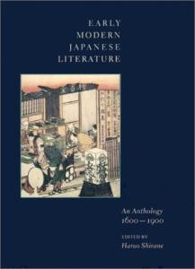 Early Modern Japanese Literature: An Anthology, 1600-1900