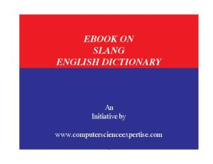 8c4a27e7453 Dictionary of American Slang - PDF Free Download