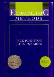 Econometric Methods, Fourth Edition