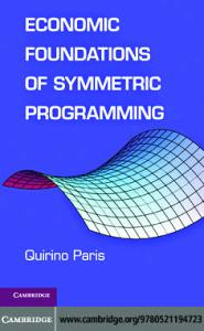 Economic Foundations of Symmetric Programming