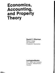 Economics, Accounting, and Property Theory