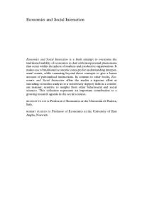 Economics and Social Interaction: Accounting for Interpersonal Relations