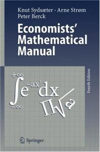 Economists' Mathematical Manual, 4th Edition
