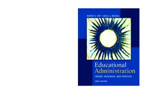 Educational administration: theory, research, and practice (9th Ed.)
