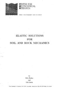 Elastic Solutions for Soil and Rock Mechanics (Soil Engineering)