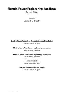 Electric Power Generation, Transmission, and Distribution (The Electric Power Engineering Hbk, Second Edition)