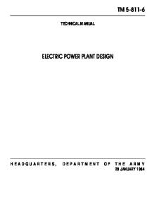 Electric Power Plant Design