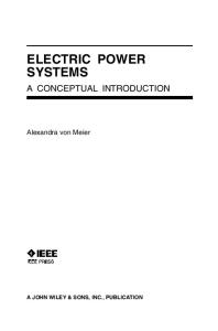 Electric Power Systems. A Conceptual Introduction