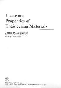 Electronic Properties of Engineering Materials (Mit Series in Materials Science and Engineering)