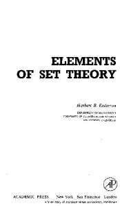 Elements of set theory