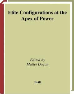 Elite Configurations at the Apex of Power (International Studies in Sociology and Social Anthropology)