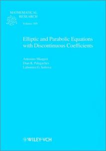 Elliptic and Parabolic Equations with Discontinuous Coefficients