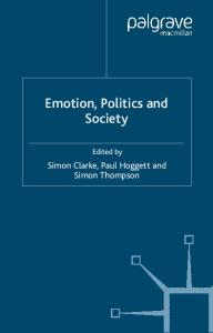 Emotion, Politics and Society