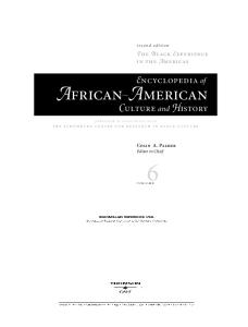 Encyclopedia Of African American Culture And History