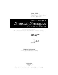 Encyclopedia Of African American Culture And History - PDF Free Download